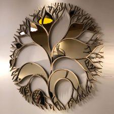 Mandala Lírio da Paz Espelhada